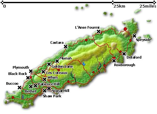 tobago heritage map